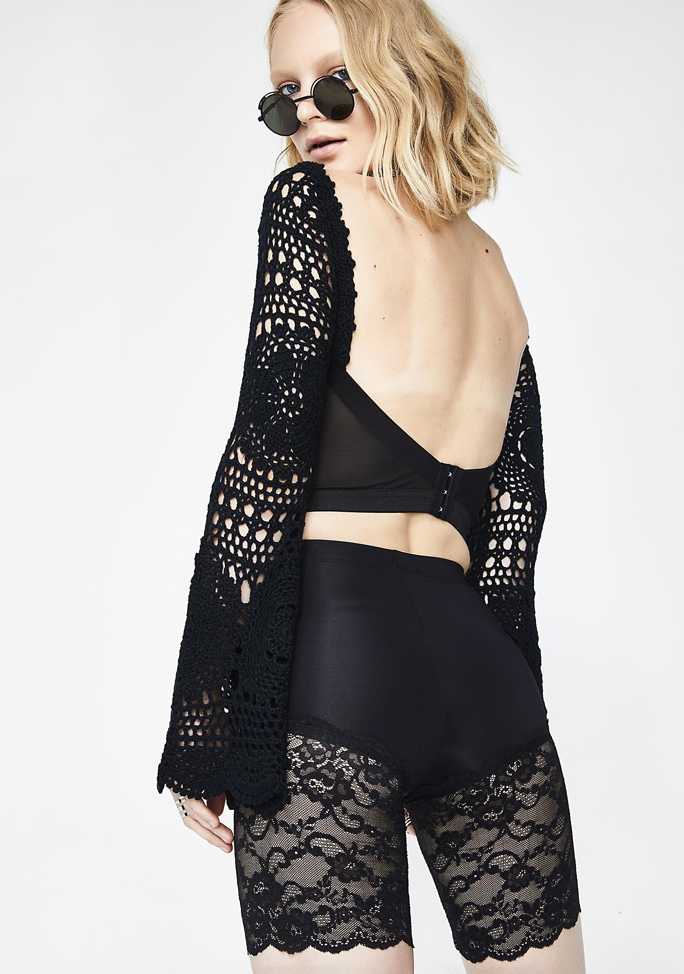 Kiki Riki Midnight Baddie Lace Shorts