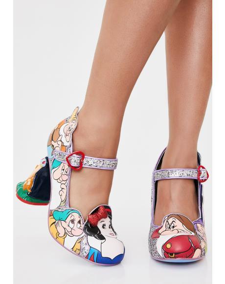 Seven Is Company Glitter Heels