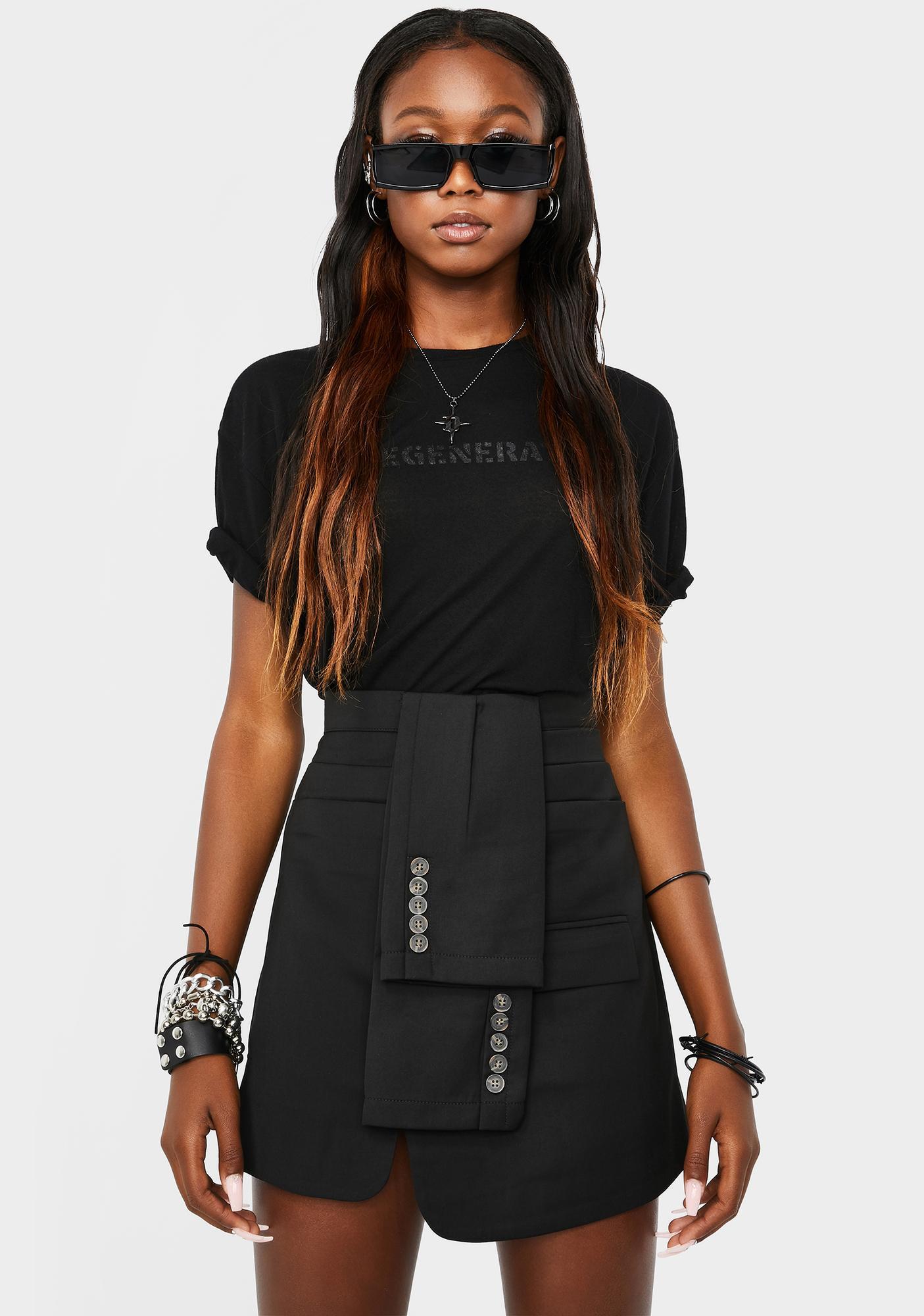 THE KRIPT Ayo Sleeves Mini Skirt