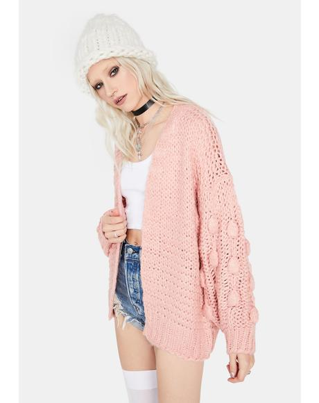 Just Like You Bubble Sleeve Cardigan