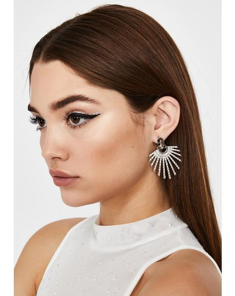 Glam Appeal Rhinestone Earrings