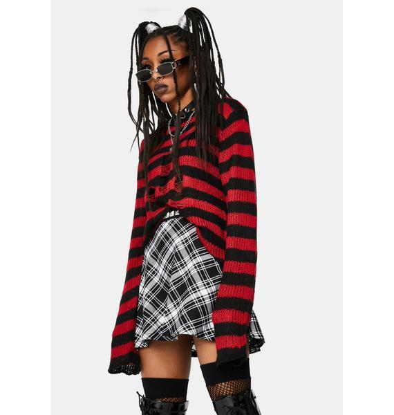 Tripp NYC Black Plaid Woven Circle Skirt