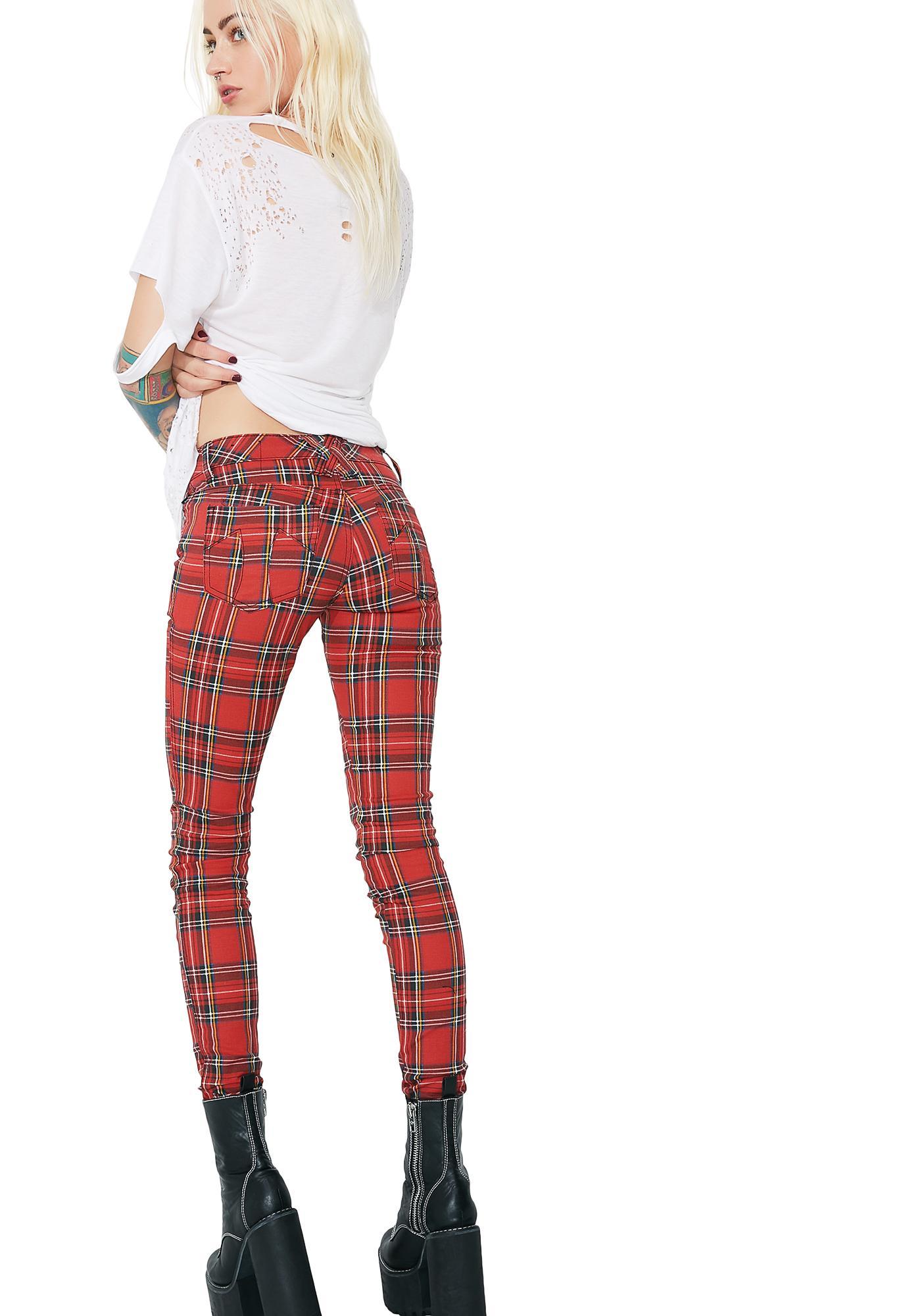 Tripp NYC Tartan Plaid Pants