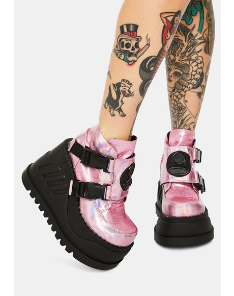Pink Holographic Stomp Reloaded Platforms
