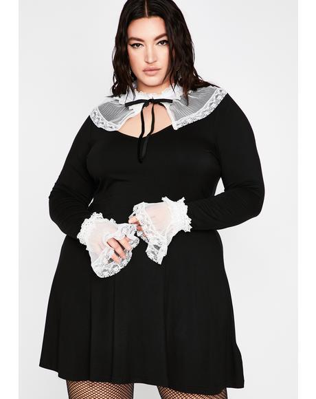 Plus Forgive Me Father Mini Dress