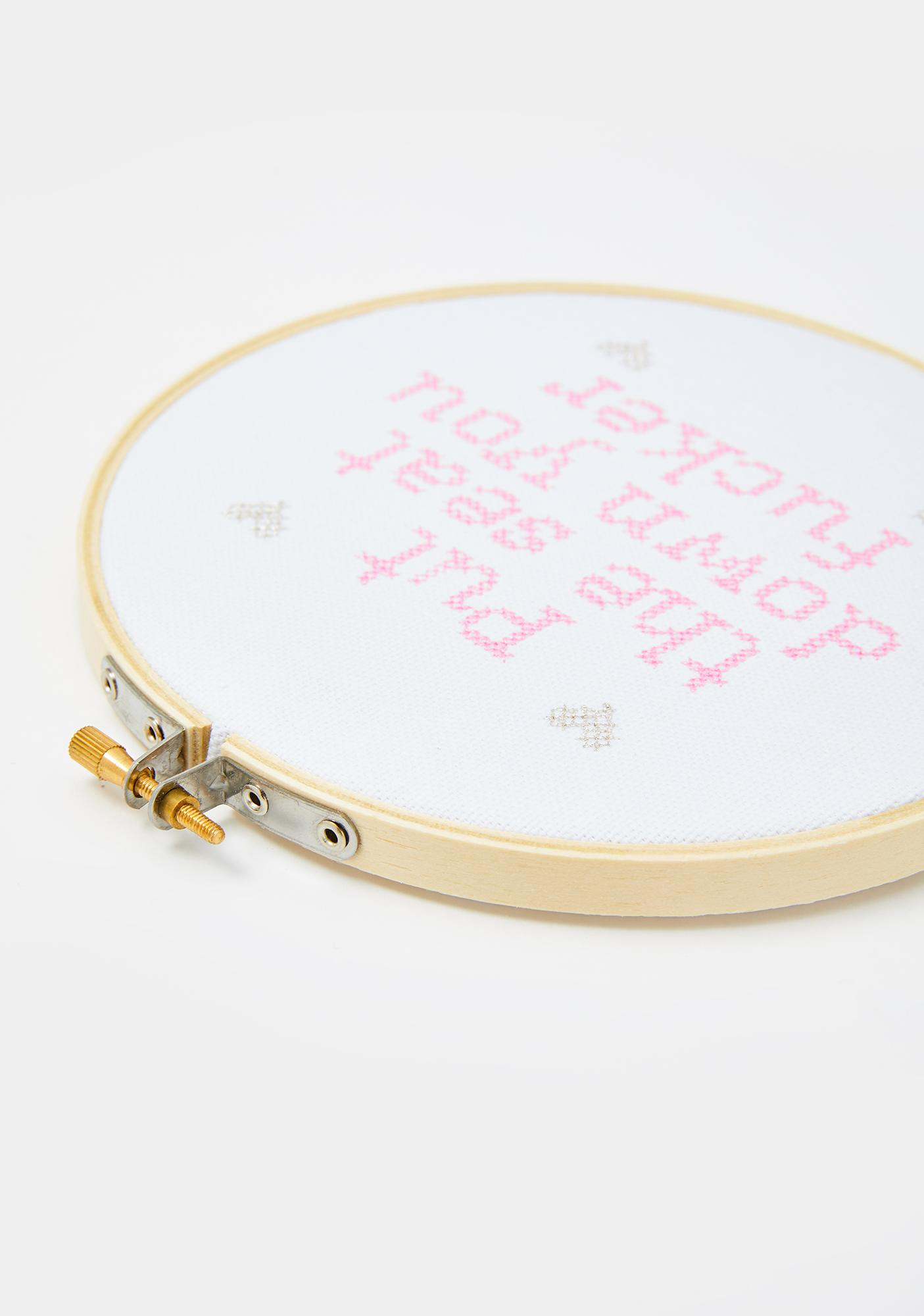 A Shop of Things Put The Seat Down Cross Stitch