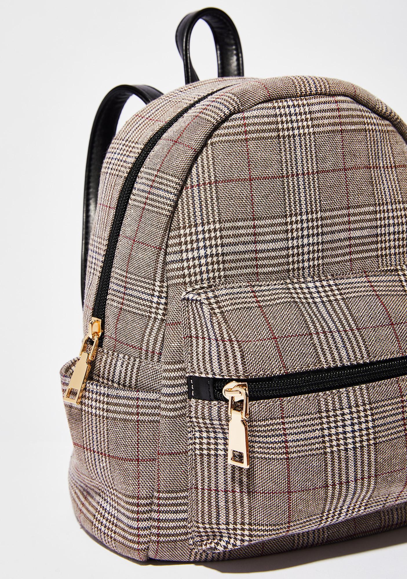 Skippin' Class Plaid Backpack