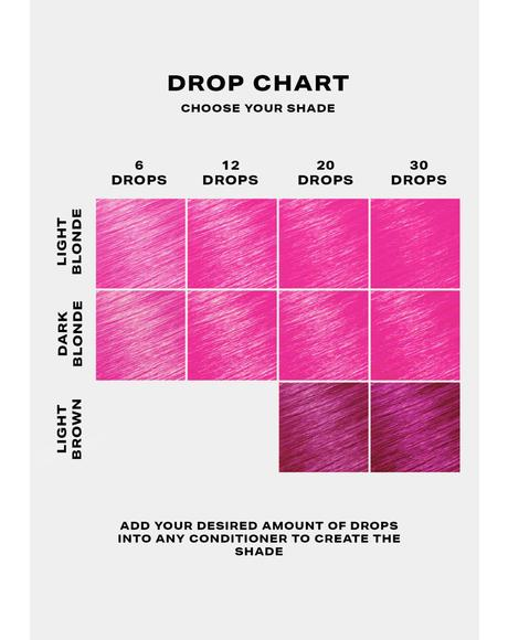 Hot Pink Hair Drop It Dye Kit
