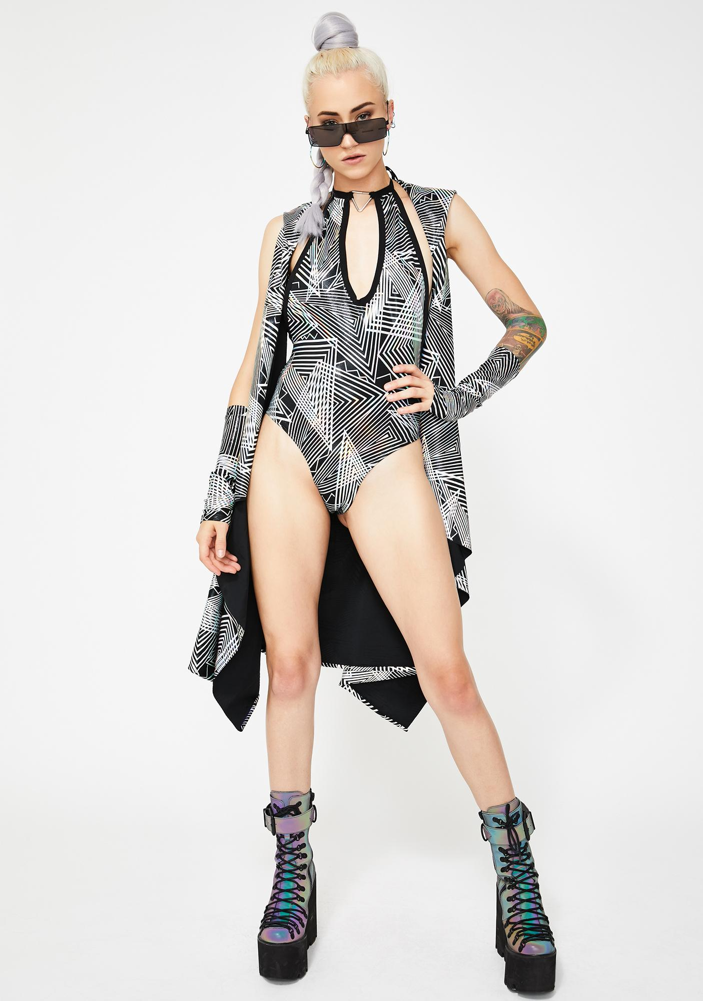 The Lyte Couture Tantric Plunge Bodysuit