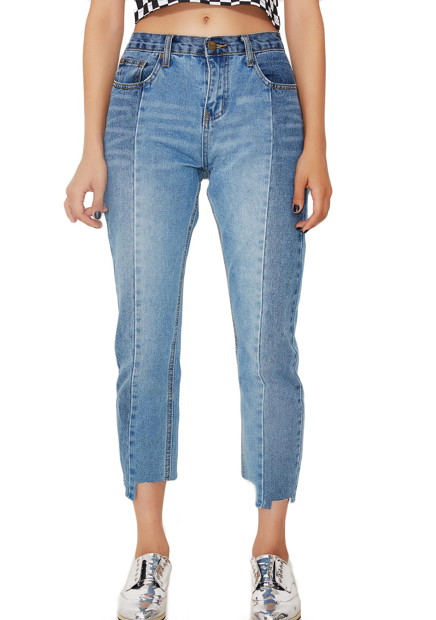 EVIDNT Two Tone Jeans