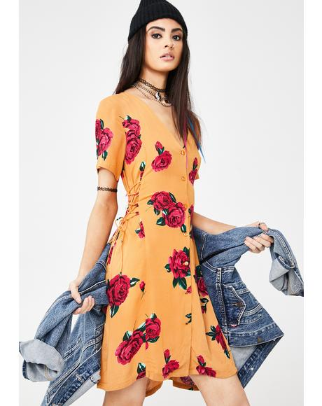 Runnin Late Floral Dress