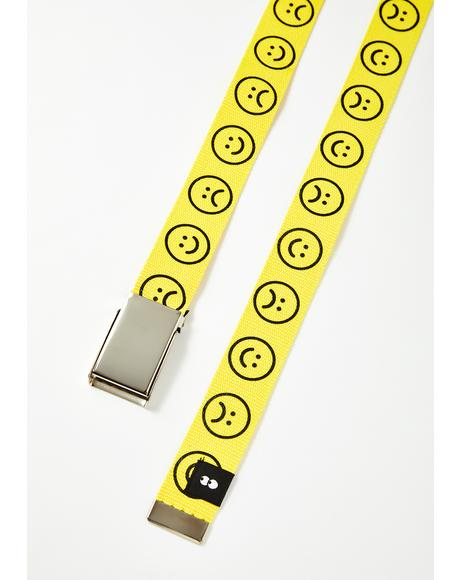 Yellow Happy Sad Belt