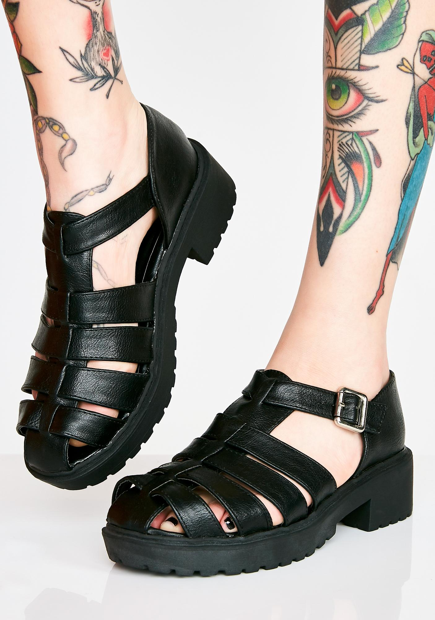 5e6aa5335dbbc Vegan Leather Chunky Sandals