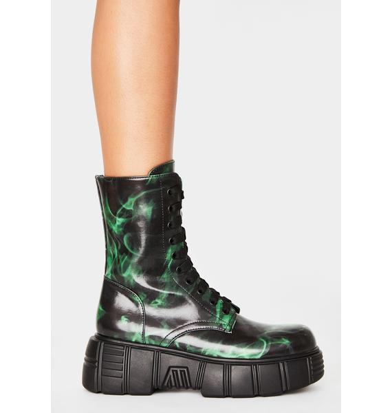 HOROSCOPEZ Cash To Burn Combat Boots