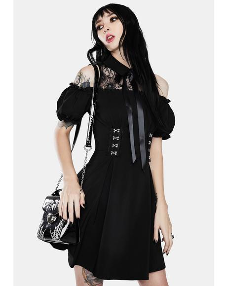 Gothic Lolita Off Shoulder Bow Dress