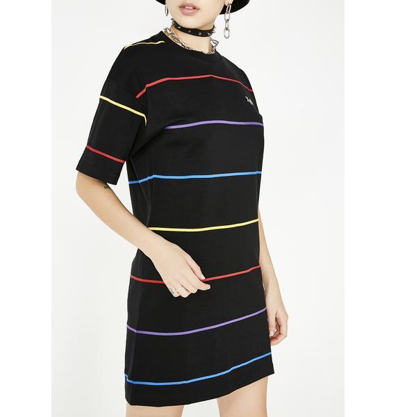 x-Girl Rainbow Stripe Tee Dress