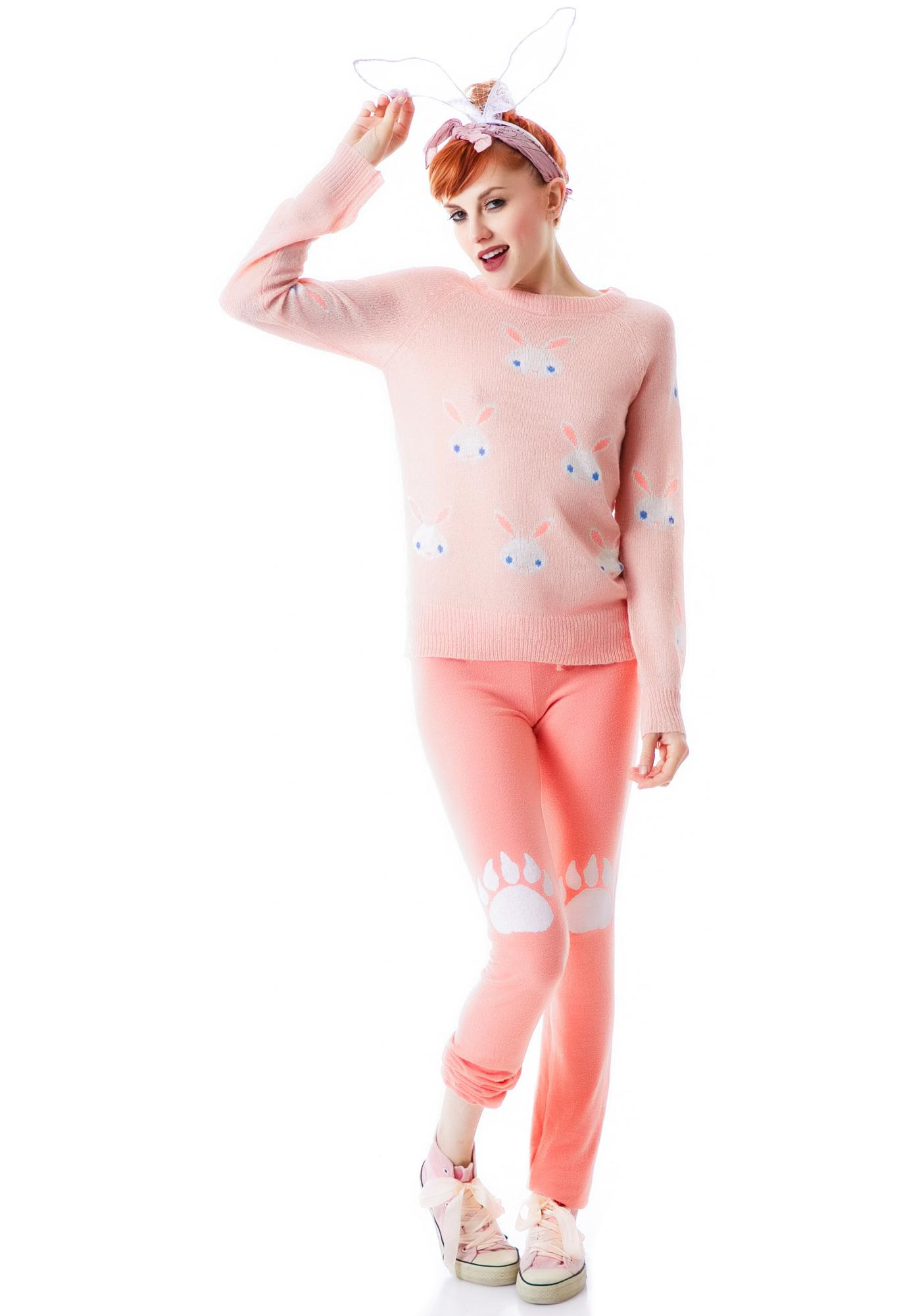 Wildfox Couture Snow Bunny Party Sweater