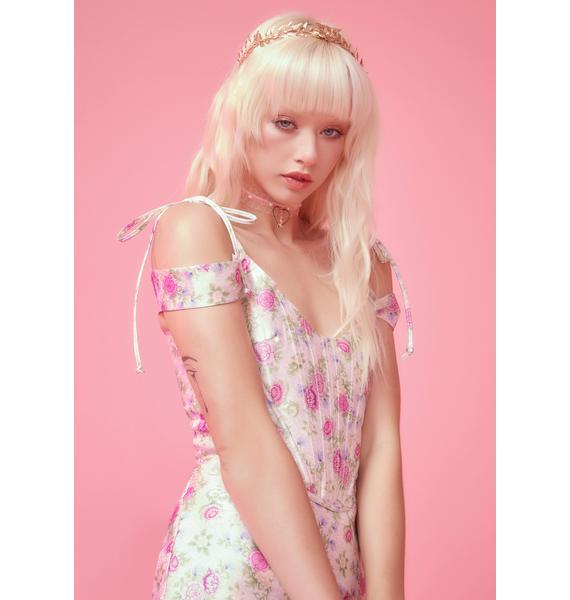 Sugar Thrillz Blooming Polaroid Fever Corset Top