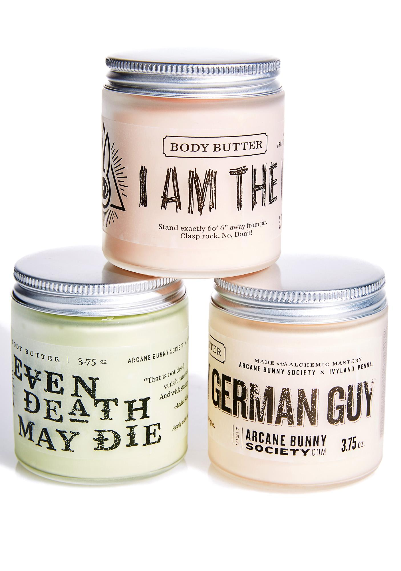 Arcane Bunny Society Scary German Guy Body Butter