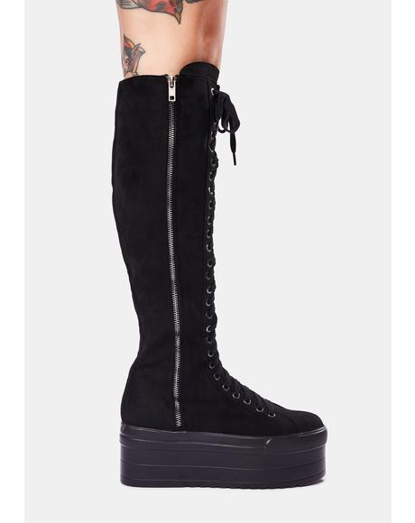 Cruel Hearted Knee High Boots
