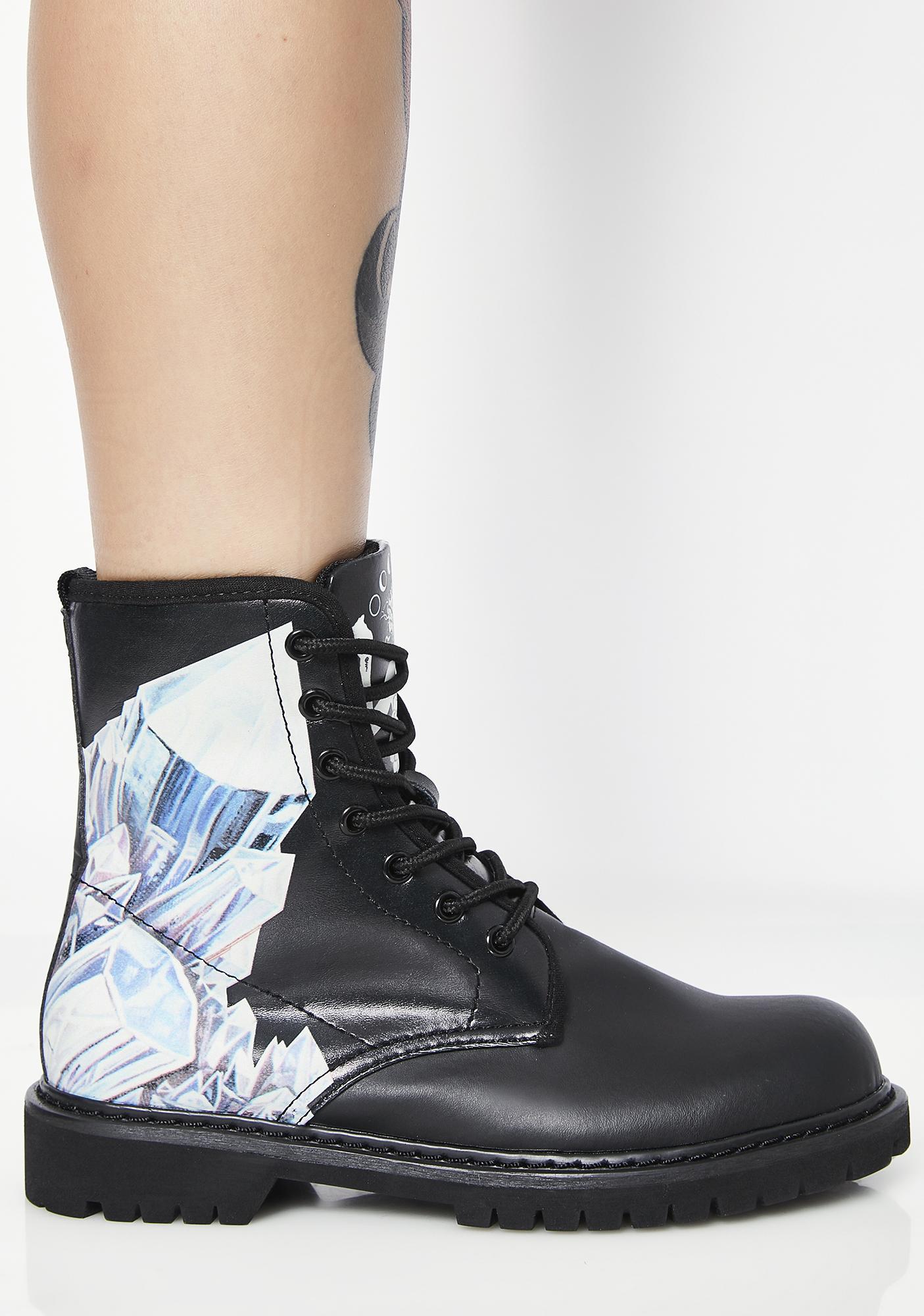 Noa Knafo Crystals Vegan Boots