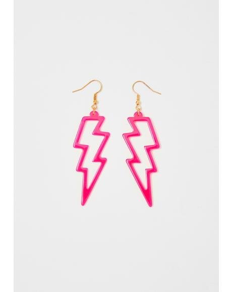 Electric Energy Drop Earrings