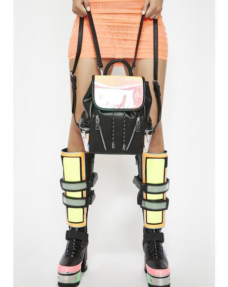 Beamed Up Hologram Backpack
