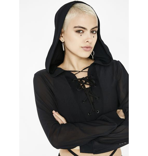 Action Recall Lace-Up Hoodie