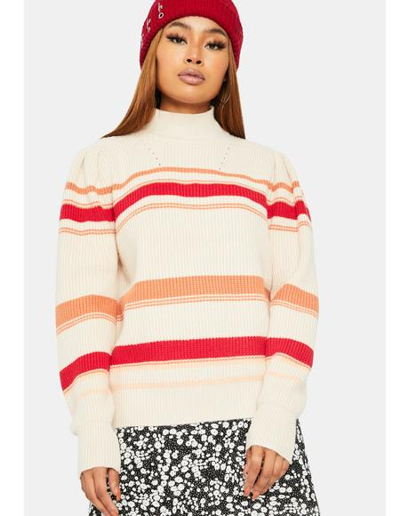 Risky Games Mockneck Sweater