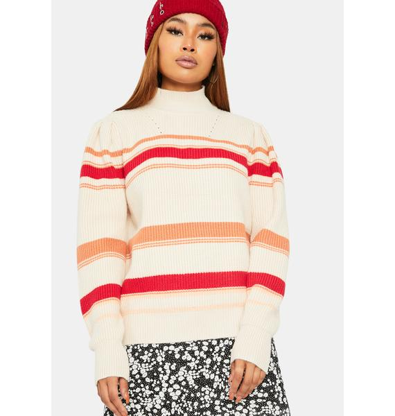 Risky Games Mockneck Sweater
