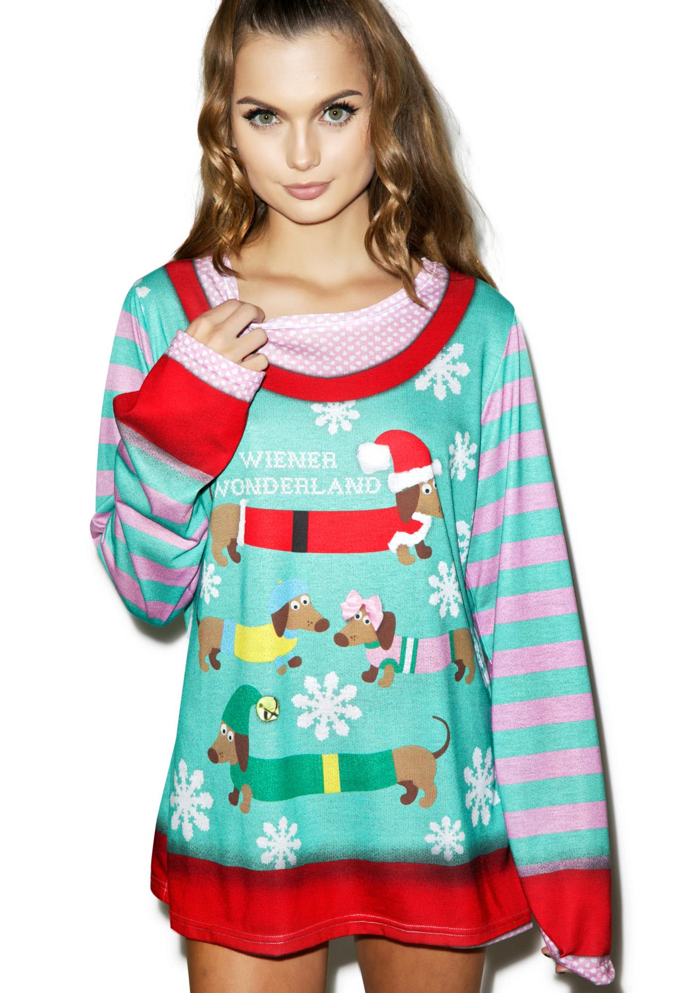 Wiener Wonderland Sweater Tee
