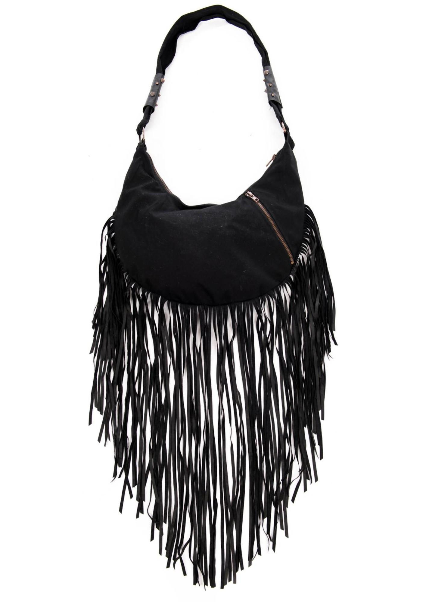 Lip Service Rust And Roll Fringe Hobo Bag