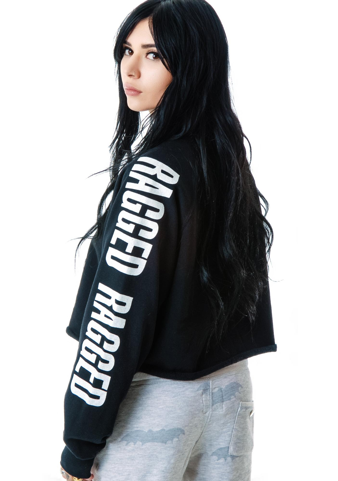 The Ragged Priest The  Gunshow Long Sleeve Cropped Sweatshirt