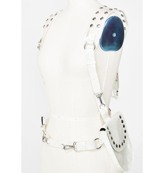 Club Exx Futuristic Mystic Hologram Holster Vest