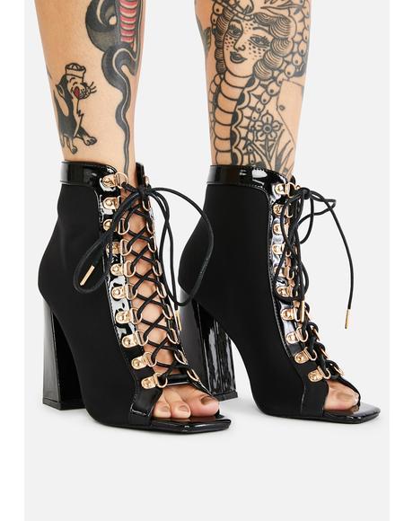 Syringe Lace Up Heels