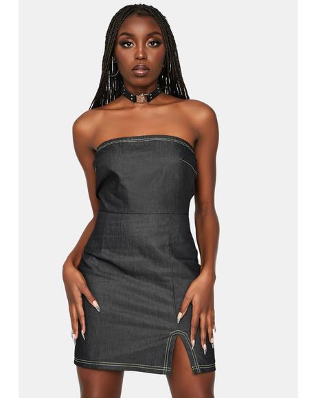 Trending Charts Strapless Dress