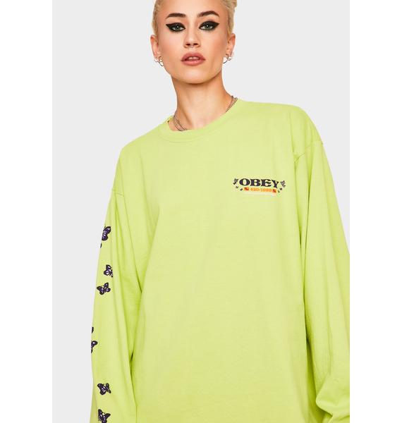 Obey To The Children Long Sleeve Graphic Tee