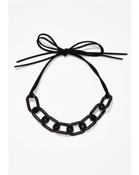 Onyx Linked In Choker