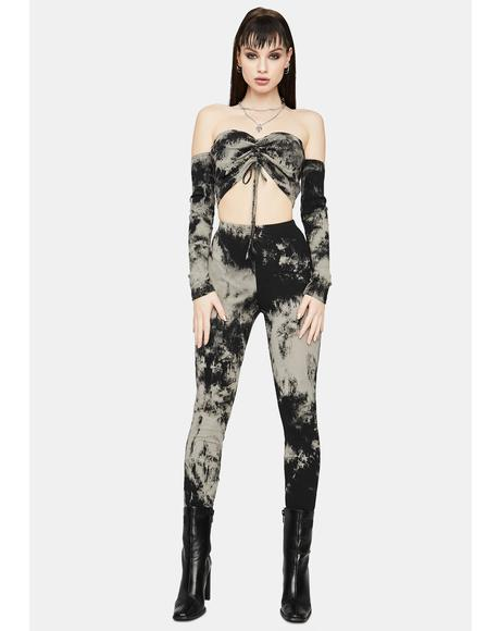 Dark Always Posing Tie Dye Pant Set