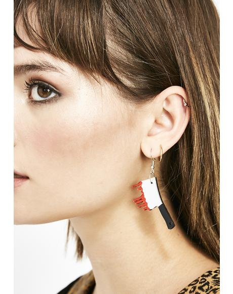 Bloody Mystery Knife Earrings