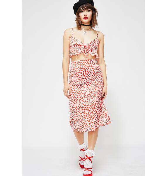Heart Flutter Skirt Set