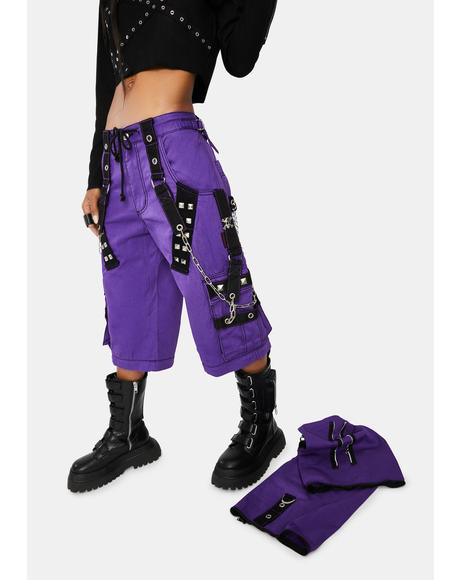 Purple Darkstreet Cuff Pants