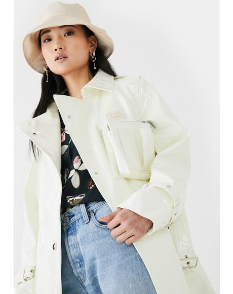 Patent Detachable Purse Trench Coat