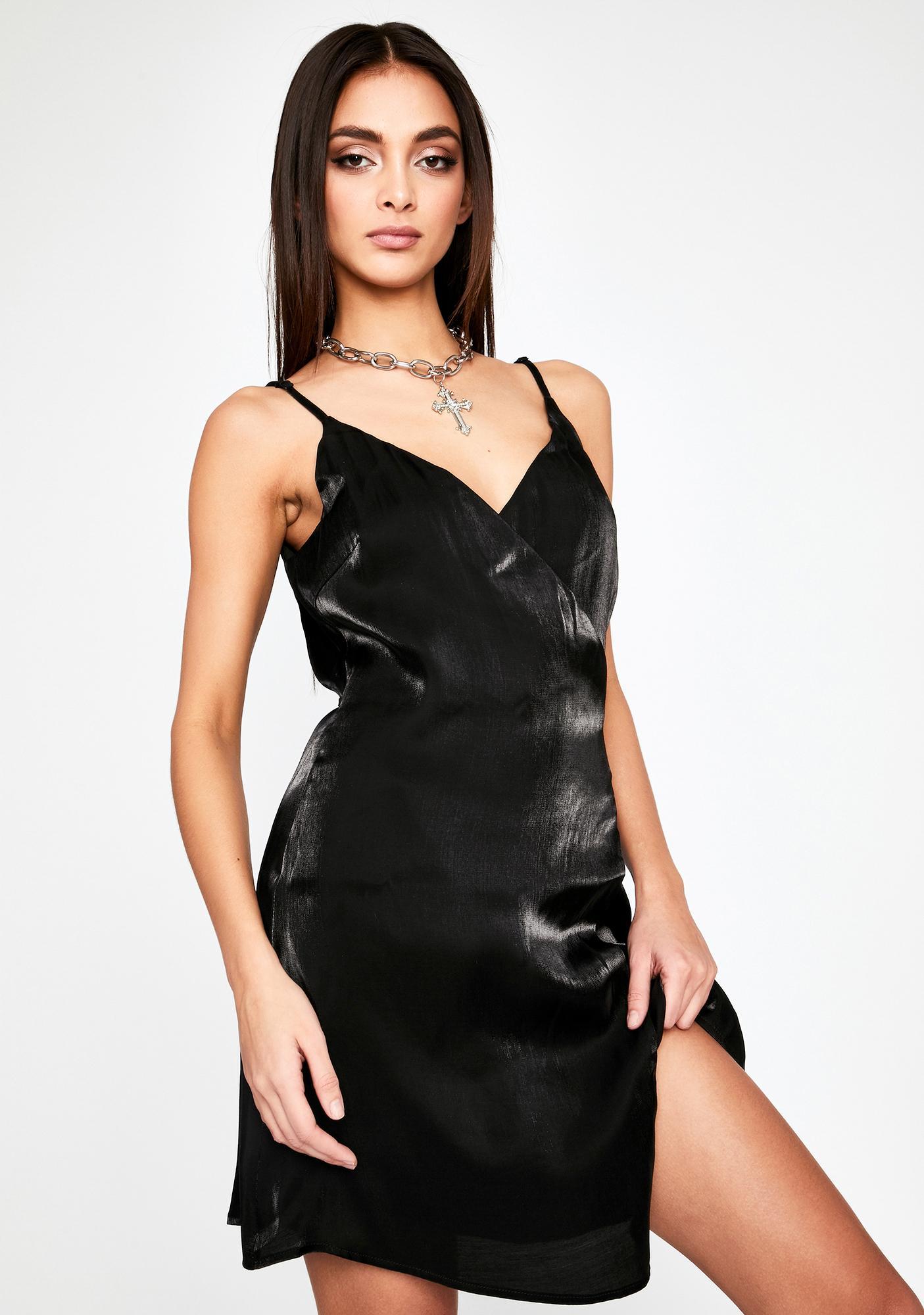 Daring Glimmer Wrap Dress