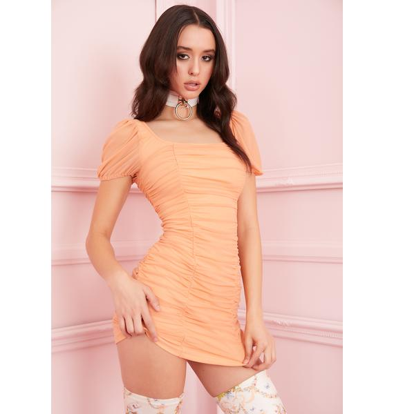 Sugar Thrillz Juicy Tart Ruched Dress