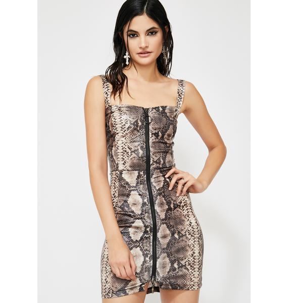 Punk Python Mini Dress
