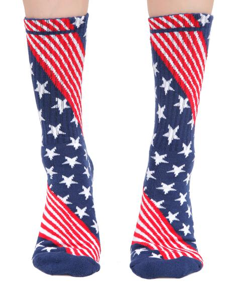Fuck It Flag Socks