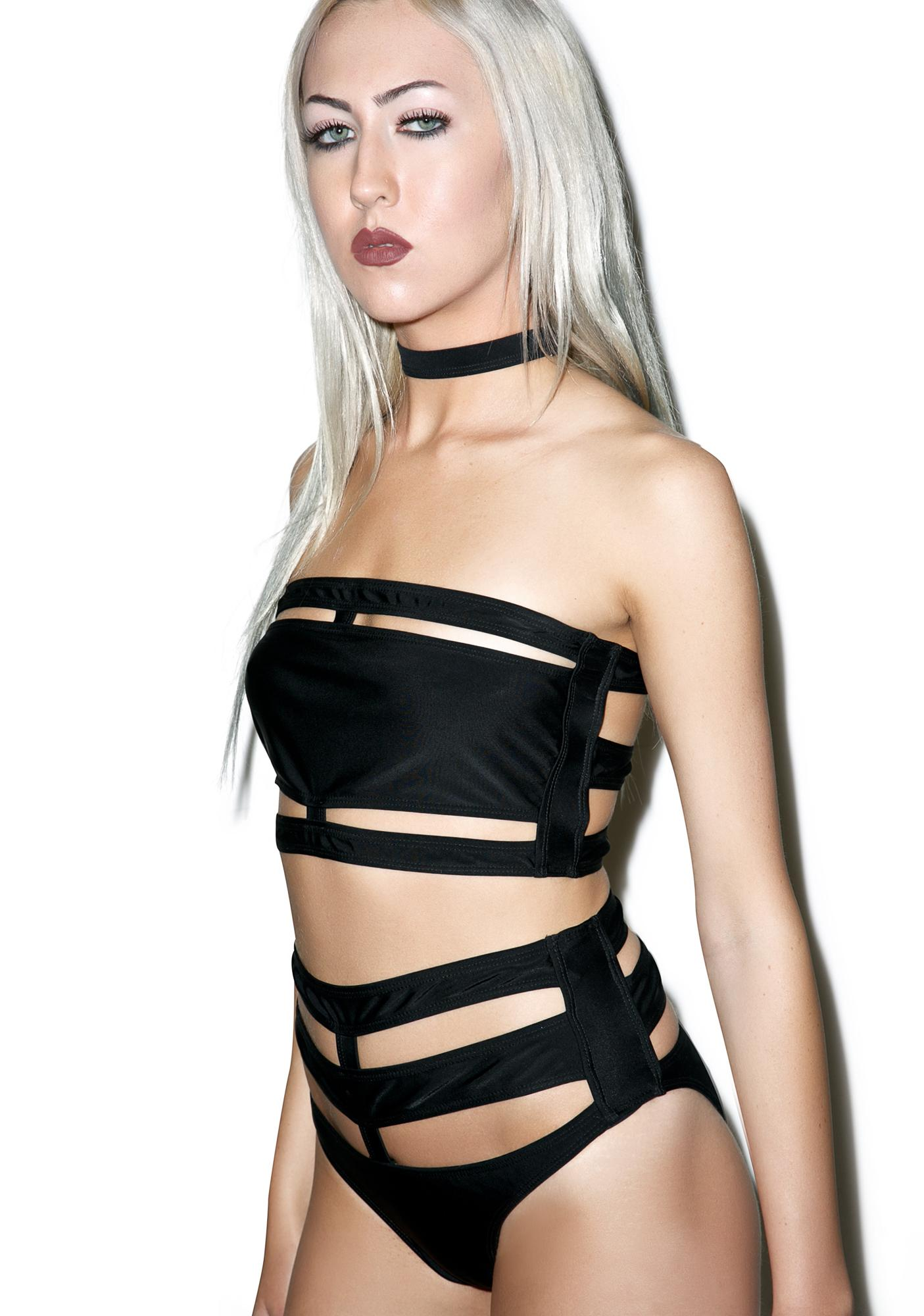 Disturbia x Dolls Kill Banded Bikini Set