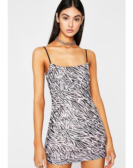 Wild Soul Zebra Dress