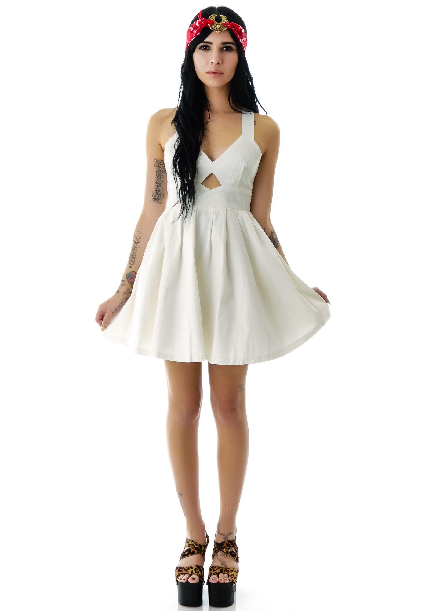 Marilyn Cut Out Babydoll Dress